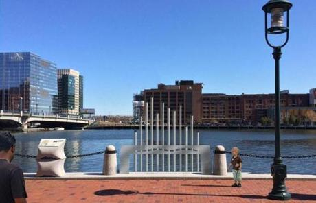 Tidraphone: This creates a musical experience with pipes that extend into the water on Fort Point Channel.